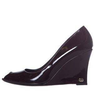 Gucci Patent Leather Wedges - Size 10